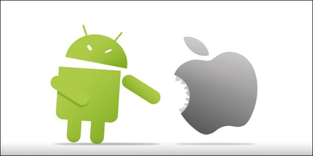 Ilustrasi Android vs IOS (tech.co)