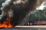 Ilustrasi pemadaman kebakaran (Facebook-BPBD Kota Madiun)