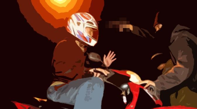 Ilustrasi begal motor (Liputan6.com)