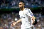 Bintang Real Madrid Karim Benzema merayakan golnya saat melawan Bayern Munich beberapa waktu silam,. JIBI/Reuters/Michael Dalder