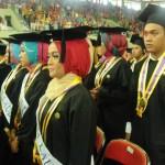 Suasana wisuda 1.773 mahasiswa UNY di GOR UNY, Sabtu (28/11/2015). (JIBI/Harian Jogja/Joko Nugroho)