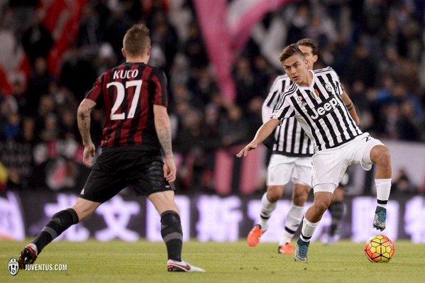 Juventus vs AC Milan (Twitter)
