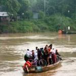 INFRASTRUKTUR BOJONEGORO : Jembatan Kota-Trucuk Rampung Akhir Maret 2018, Penambang Perahu Berharap Pesangon