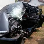 KECELAKAAN SRAGEN : Mobil Vs Truk, 1 Tewas