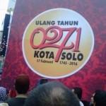 Peluncuran logo HUT ke-271 Kota Solo di Solo Great Sale 2016 (Twitter.com/@pergikebioskop)