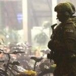 Polisi Jerman berjaga di Stasiun Munich (Reuters)