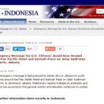 "BOM SARINAH THAMRIN : Ini Klarifikasi Soal Isu ""Email Kedubes AS"" Tahu Rencana Bom Jakarta"