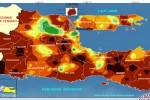 Peta anomali curah hujan Jatim. (JIBI/Solopos/Antara/Istimewa-BMKG)