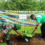 CEGAH TANAH LONGSOR : Kodim Giatkan Program Penghijauan di Wilayah Gunungkidul