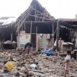 Kondisi rumah Joyo Lasiyem, di Jimbung, Kalikotes, Klaten, roboh, Senin (1/2/2016). (Ponco Suseno/JIBI/Solopos)