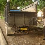 Kondisi truk yang ditabrak motor dan mengakibatkan dua orang tewas. (Tri Rahayu/JIBI/Solopos)