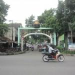 Pintu masuk koridor Dalem Joyokusuman di Gajahan, Pasar Kliwon, Solo. (Iskandar/JIBI/Solopos)