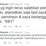 TWITTER SBY : Merasa Disalahkan Pemerintahan Jokowi, SBY Curhat di Twitter