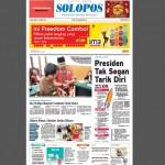 Halaman Depan Harian Umum Solopos edisi Selasa, 2 Februari 2016