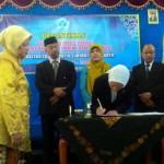 Pelantikan dekan dan wakil dekan Universitas Islam Batik (Uniba) Solo, Selasa (9/2/2016). (Septhia Ryanthie/JIBI/Solopos)