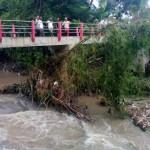 Kondisi sungai di Karangdowo, Klaten, saat Suyanto hanyut, Kamis (11/2/2016), pagi. (Istimewa/Ketua DKPRB MDMC Jateng, Eko Hari Mursanto)