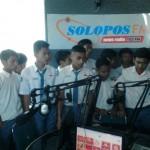 Foto kunjungan para siswa SMK An-Nur Putatsari Purwodadi di Griya Solopos, Jl. Adisucipto 190, Solo, Jawa Tengah, Jumat (5/2/2016) pagi. (Evi Handayani/JIBI/Solopos.com).