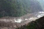 BANJIR BLITAR : Diterjang Air Bah, Sabo Dam Lahar Kelud Runtuh Total