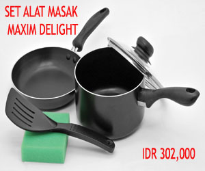 MAXIM DELIGHT  5 PCS SET DELIGHT 18CM SP+20CM FP+SPATULA+SPONGE