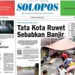 Halaman Depan Harian Umum Solopos edisi Jumat, 12 Februari 2016