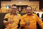 Benyamin Sudarmaji (kiri) dan Ketua Dewan Penasehat DPP Partai Hanura, Subagyo HS saat Musyawarah Daerah (Musda) Hanura DIY di Hotel Gowongan Inn.  (Ujang Hasanudin/JIBI/Harian Jogja)