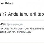 AKSI KONTROVERSIAL : Bukan Cuma Ratna Sarumpaet, Fahri Hamzah Pernah di-Skakmat Akun TNI AU
