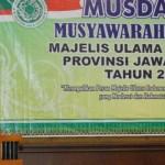 Ketua Umum MUI Jateng Ahmad Darodji memberikan sambutan setelah terpilih pada Musda IX MUI Jateng di Hotel Semesta Semarang, Rabu (9/3/2016). (Insetyonoto/JIBI/Semarangpos.com)