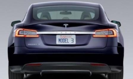 Foto teaser mobil listrik Tesla 3. (Teslamotors.com)