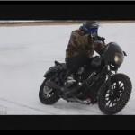 ATRAKSI MOTOR: Intip Serunya Harley Davidson Drifting di Salju