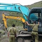Tim dari Satpol PP Provinsi Jateng sidak penambangan liar di Kali Apu, Selo, Boyolali, pada Senin (7/3/2016). Belasan chip dari alat berat itu disita. (JIBI/Solopos/Istimewa)