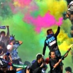 Ilustrasi aksi suporter PSIS Semarang, Panser Biru dan Snex. (JIBI/Solopos/Antara/R. Rekotomo)