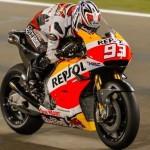 Marc Marquez dalam tes pramusim Motogp 2016 Qatar. (Motogp.com)