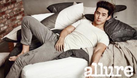 Taecyeon di majalah Allure Korea (Soompi)