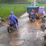 JALAN RUSAK BOYOLALI : Guru Selo Numpang Mobil Camat hingga Naik Angkutan Sapi
