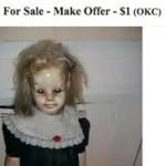 Boneka Chucky dijual di toko online. (Istimewa)