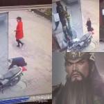 Foto CCTV wanita menyembah patung Lord Guan. (Istimewa/Weibo)