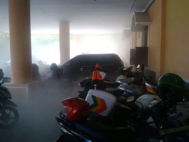 Kondisi penuh asap sesaat setelah MCB terbakar, Rabu (6/4/2016). (JIBI/Solopos/Istimewa)