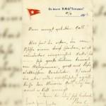 Foto surat tertua yang ditemukan di Titanic. (Istimewa/Dailymail.co.uk)
