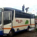 KEBAKARAN SRAGEN : Kabel AC Korslet, Minibus Ponpes Nurul Huda Terbakar