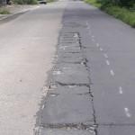 Kerusakan pada Jl.Randusari-Kopen ruas Sudimoro-Nepen. Jalan yang baru dicor beton tahun lalu mulai rusak. Foto diambil Selasa (5/4/2016). (Hijriyah Al Wakhidah/JIBI/Solopos)