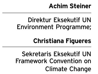 Achim Steiner dan Christiana Figueres (Dok/JIBI/Solopos)