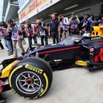 Aeroscreen pada mobil F1 Red Bull Racing. (Twitter.com)
