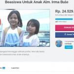 PENDANGDUT TEWAS DIGIGIT ULAR : Netizen Galang Dana Rp50 Juta untuk Anak Irma Bule