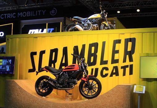 Ducati Scrambler di pameran IIMS 2016. (Detik.com)