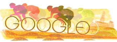 Google Doodle memperingati Tour of Flanders ke-100. (Google.com)