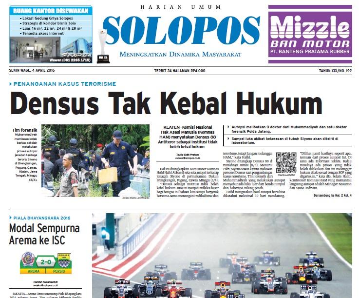 Berita Soloraya, Harian Umum Solopos, kabar soloraya, koran Solopos, Solopos Hari Ini