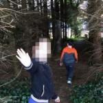 Hantu tentara melintas di depan anak-anak (Irishmirror)