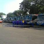 TRANSPORTASI SOLO : Awak Bus Surabaya-Jogja Mogok, Penumpang Terlantar