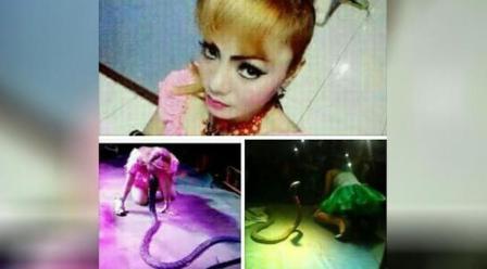 Irma Bula menari bersama ular (Liputan6.com)