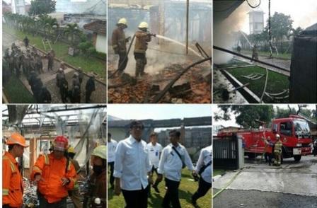 Kebakaran di Lapas Banceuy (Twitter.com/@diskar_bdg)